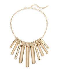Alexis Bittar | Metallic Lucite Luna Crystal Bib Necklace | Lyst