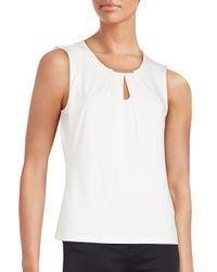 Calvin Klein | White Hardware Detailed Top | Lyst
