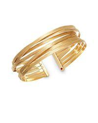 Roberto Coin | Metallic Basic Gold 18k Yellow Gold Crisscross Cuff Bracelet | Lyst