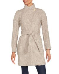 T Tahari   Multicolor Isabelle Asymmetrical Wool-blend Coat   Lyst