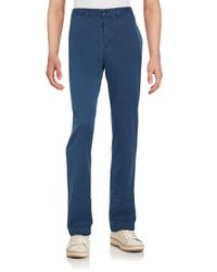 Billy Reid | Blue Leonard Cotton Chinos for Men | Lyst
