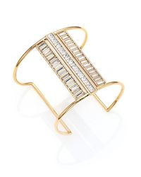 Alexis Bittar | Metallic Miss Havisham Deconstructed Deco Crystal Cuff Bracelet | Lyst