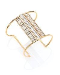 Alexis Bittar | Metallic Miss Havisham Deconstructed Deco Crystal Cuff Bracelet | Lyst