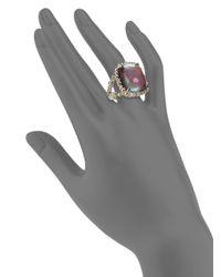 Saks Fifth Avenue - Metallic Purple Stone Ring - Lyst