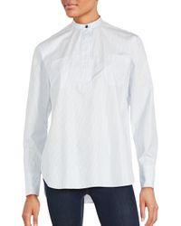 Helmut Lang | White Poet Striped Shirt | Lyst