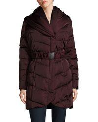 T Tahari | Multicolor Solid Puffer Jacket | Lyst