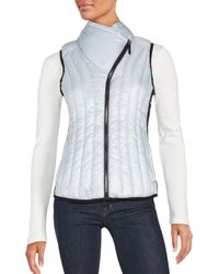 Calvin Klein | Blue Quilted Zippered Vest | Lyst