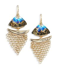 Alexis Bittar | Metallic 10k Goldplated Brass Mesh Wire Earrings | Lyst