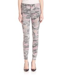 True Religion - Multicolor Halle Distressed Camo Skinny Jeans - Lyst
