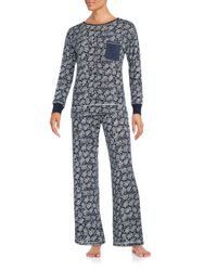 Carole Hochman | Blue Patterned Pajama Set | Lyst