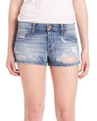 Joe's Jeans - Blue Billie Distressed Jean Shorts - Lyst