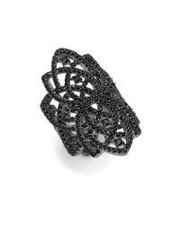 Noir Jewelry | Black Crystal Statement Ring | Lyst