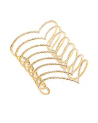 Noir Jewelry - Metallic Cuic Zirconia & 18k Gold-plated Studded Bracelet - Lyst