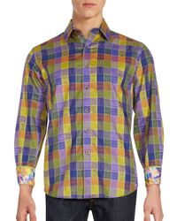 Robert Graham - Blue Smooth Stones Long Sleeve Shirt for Men - Lyst