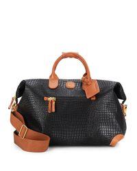 "Bric's | Black 18"" Leather Duffel Bag | Lyst"