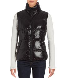 Betsey Johnson | Black Reversible Puffer Vest | Lyst