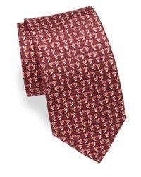 Ferragamo - Purple Ziguli Hummingbird Print Silk Tie for Men - Lyst