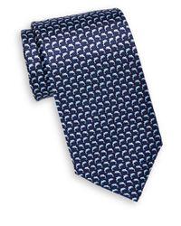 Saks Fifth Avenue   Blue Dolphin Print Silk Tie for Men   Lyst