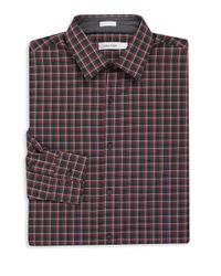 Calvin Klein | Multicolor Big & Tall Long Sleeve Checkered Sportshirt for Men | Lyst