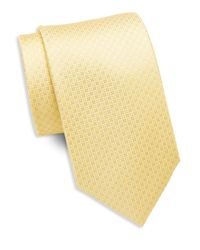 Saint Laurent | Yellow Circle And Diamond Silk Tie for Men | Lyst