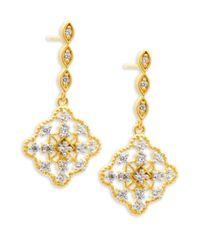 Freida Rothman | Metallic Classic Cz & 14k Gold-plated Sterling Silver Drop Earrings | Lyst