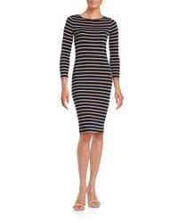 BCBGMAXAZRIA   Multicolor Briza Striped Knit Dress   Lyst