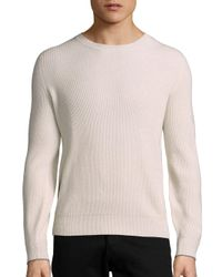Brunello Cucinelli | Natural Ribbed Cashmere Pullover for Men | Lyst