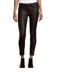 7 For All Mankind | Black Knee Seam Skinny Jeans | Lyst