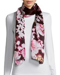 Vince Camuto - Pink Falling Floral Scarf - Lyst
