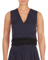 10 Crosby Derek Lam - Blue V-neck Sleeveless Top - Lyst