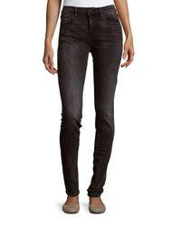 Earnest Sewn   Black Natasha Mid-rise Skinny Jeans   Lyst