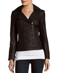 Love Token | Black Fringed Faux Leather Jacket | Lyst