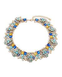 Saks Fifth Avenue | Blue Multicolor Crystal & 14k Gold-plated Necklace | Lyst