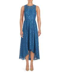 Shoshanna | Blue Midnight Coraline Floral Lace Dress | Lyst