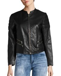 Sandro | Black Valeke Leather Jacket | Lyst