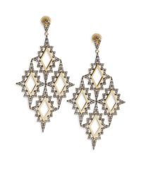 Noir Jewelry | White Opal Drop Earrings | Lyst
