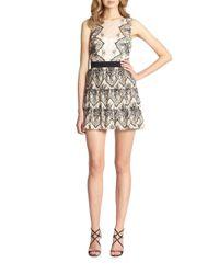 BCBGMAXAZRIA   Black Collier Tiered Lace Dress   Lyst