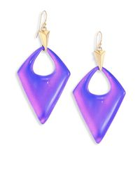 Alexis Bittar | Purple Pointed Pyramid Lucite Drop Earrings | Lyst