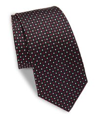 Moschino   Blue Printed Silk Tie for Men   Lyst