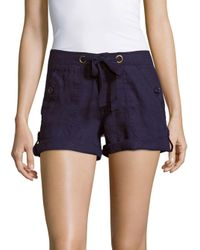 Sanctuary | Blue Drawstring Cotton Shorts | Lyst