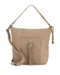 Lucky Brand   Natural Crossbody Leather Shoulder Bag   Lyst
