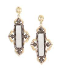 Armenta - Metallic Old World Rainbow Moonstone, Champagne Diamond, 18k Yellow Gold & Sterling Silver Earrings - Lyst