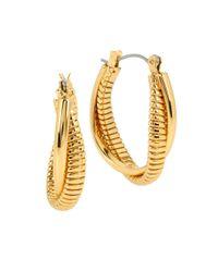 Diane von Furstenberg - Metallic All The Glitz Omega Twist Oval Hoop Earrings- 1in - Lyst