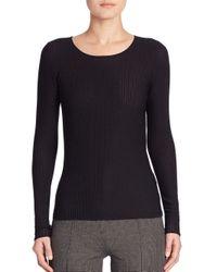 Akris Punto - Black Long Sleeve Rib-knit Pullover - Lyst