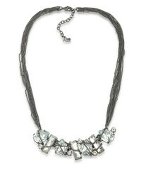 ABS By Allen Schwartz | Metallic Rockstars Stone Wrap Frontal Necklace | Lyst