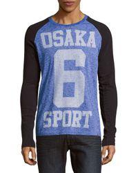 Superdry | Blue Osaka Printed Sport Tee for Men | Lyst