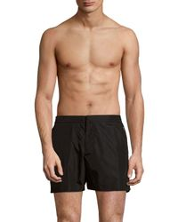 Orlebar Brown - Black Solid Three-pocket Swim Shorts for Men - Lyst