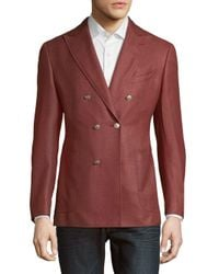 Pal Zileri | Red Solid Double-breasted Jacket for Men | Lyst