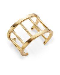 Vita Fede - Metallic Pandora Crystal-accent Cuff Bracelet/goldtone - Lyst