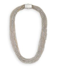 Saks Fifth Avenue - Metallic Multi-chain Necklace/silvertone - Lyst